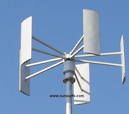 Roof Mount 3000w (3 kw) Vertical Axis Wind Turbine