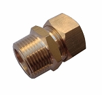 "NPT Male 3/4"" Brass couplin Hex"